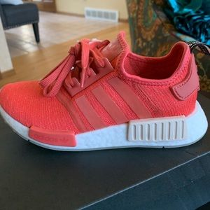Adidas NMD size 5 red coral tennis shoes